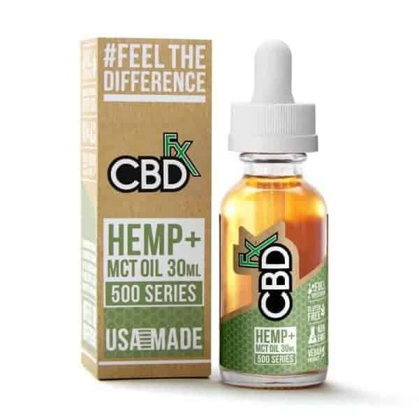 CBDfx Natural 500mg Full Spectrum CBD Tincture Oil 30mL CBD