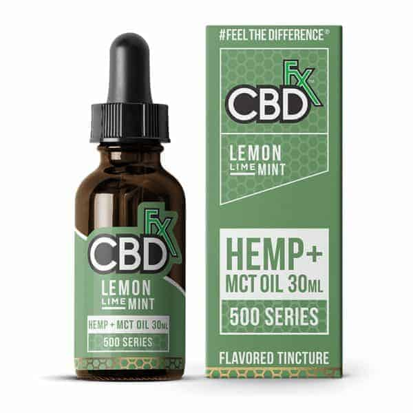 CBDfx 500mg/1000mg CBD Oil Tincture Lemon Lime