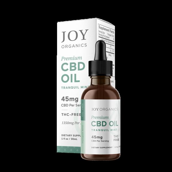 Joy Organics CBD Oil Nano Emulsified Tinctures Oil 30mL