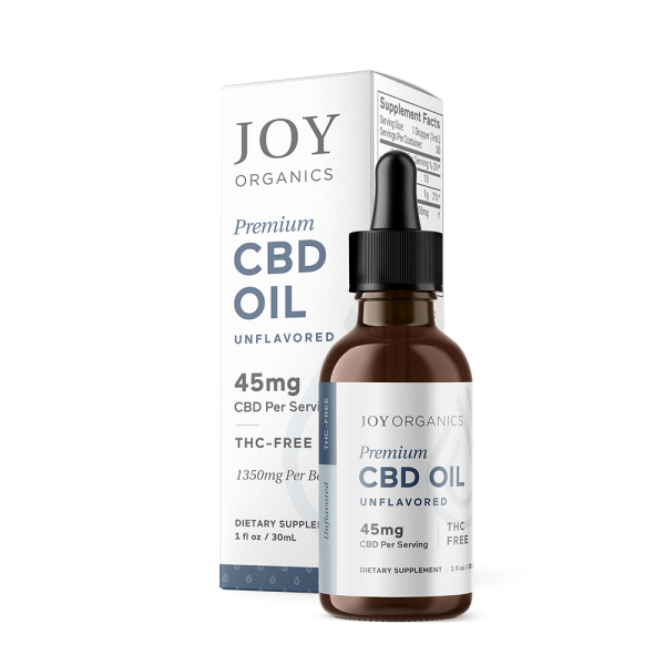Joy Organics CBD Oil Nano Emulsified Tinctures Oil 30mL | Unflavored