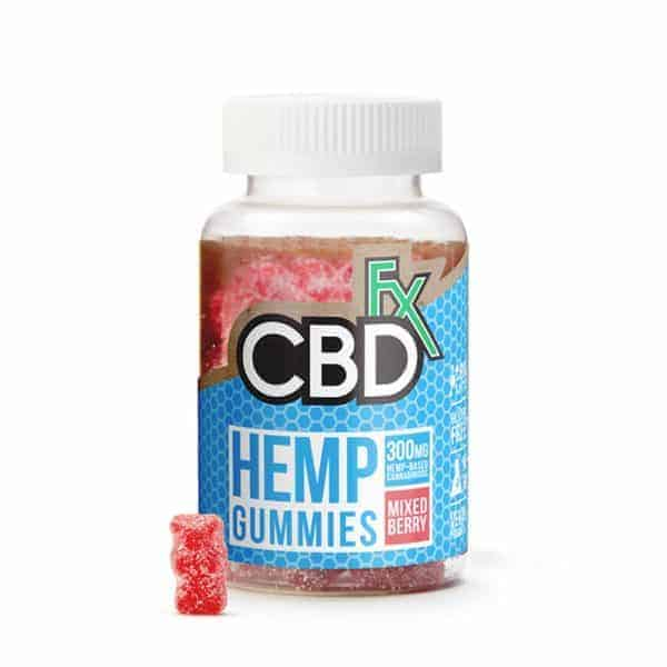 CBDfx Mixed Berries CBD Gummies 300mg Bottle 60 Count