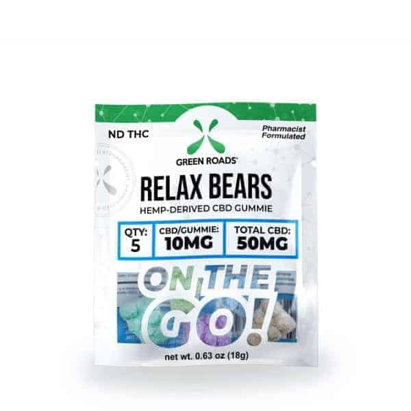 Green Roads CBD 50MG Relax Bears On The Go Gummies
