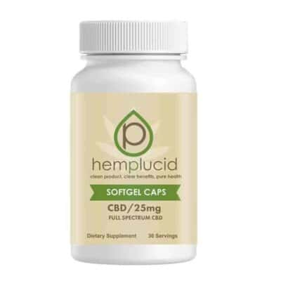 Hemplucid 750mg Softgel CBD Caps 25mg/Dose Premium Full Spectrum