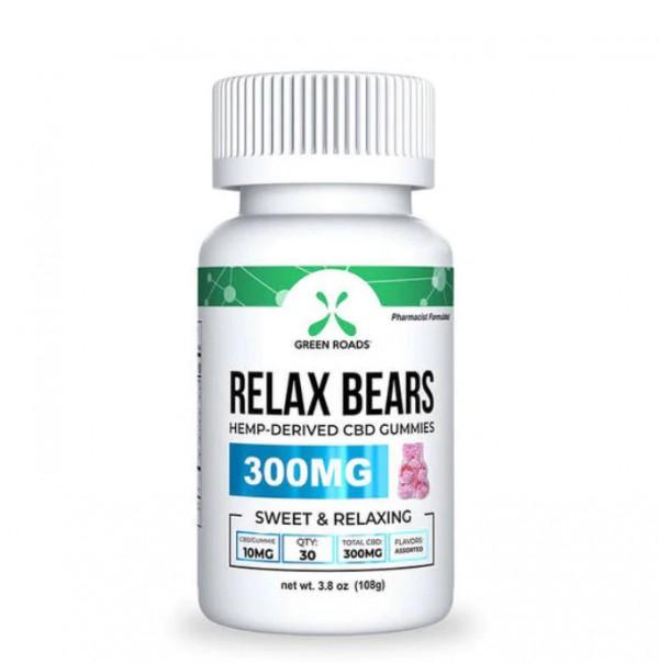 Green Roads Gummy Bears 300MG Relax CBD