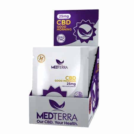 medterra good morning capsules display box