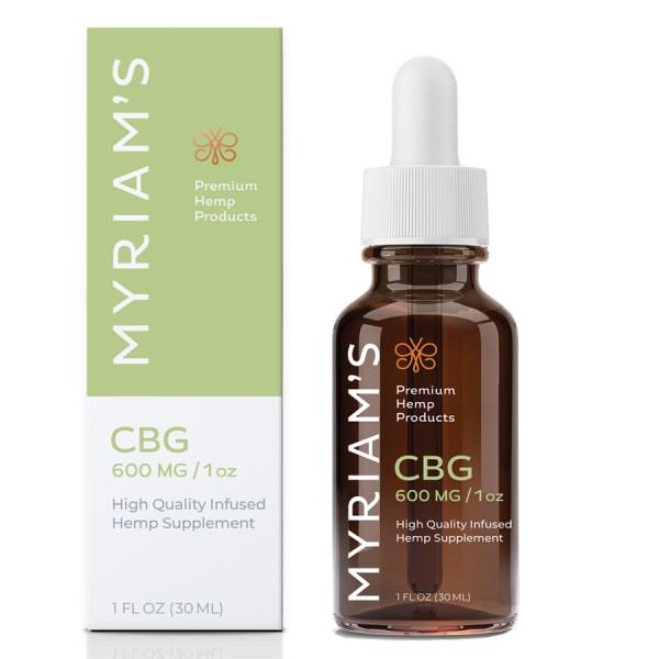 Myriam's Hope CBG 600mg Tincture 30mL Bottle High Potency