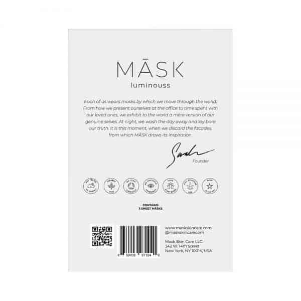 LUMINOUSS Hydrating & CBD Moisturizing Sheet Mask