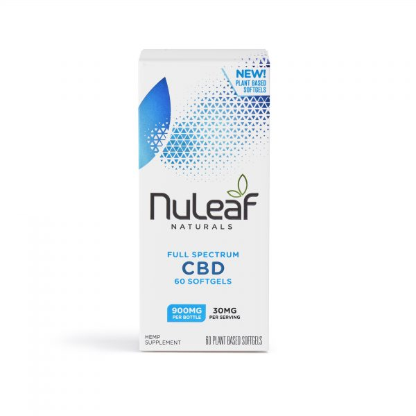 NuLeaf Naturals Full Spectrum CBD Softgels 15mg