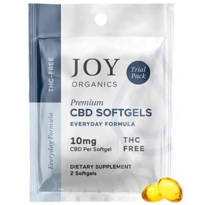 Joy Organics on the go cbd soft gels