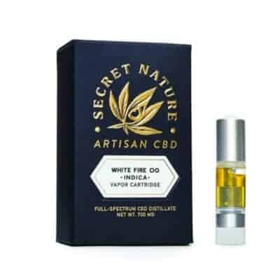 secret nature white fire CBD vape